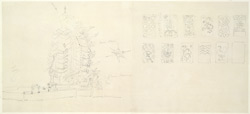 Drawing from a set of 16 architectural details in N. India made between 1786 and 1792 1805